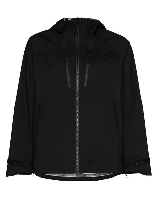 Snow Peak Black 2.5 Layer Zipped Hooded Jacket for men