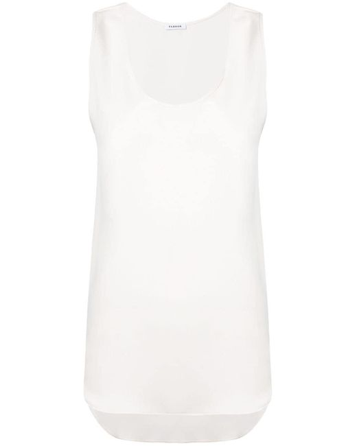 P.A.R.O.S.H. Scoop Neck Tank Top White