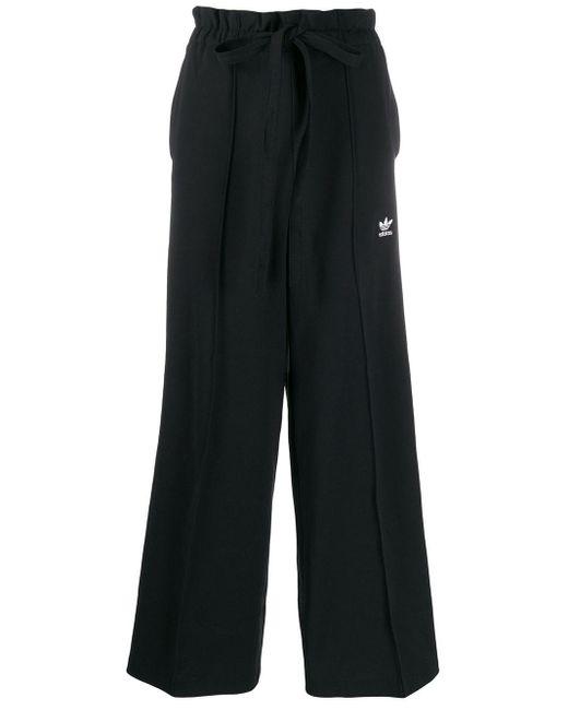 Adidas ワイド トラックパンツ Black
