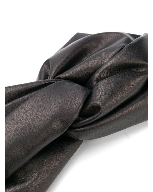 Manokhi リボン ヘアバンド Black