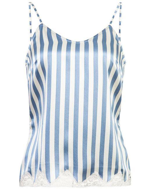 Morgan Lane Jac Striped Cami Top In Blue Lyst