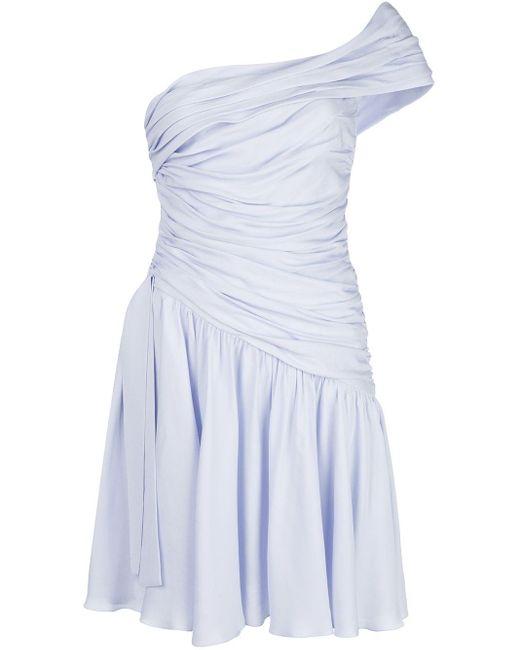 Giambattista Valli シャーリング ドレス Blue