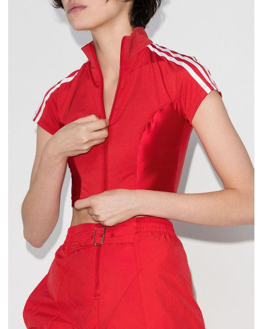 Adidas X Paolina Russo Olympic クロップドトップ Red