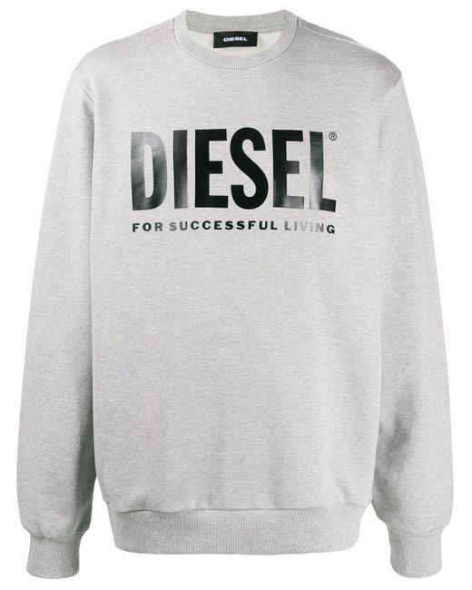 メンズ DIESEL ロゴ スウェットシャツ Gray