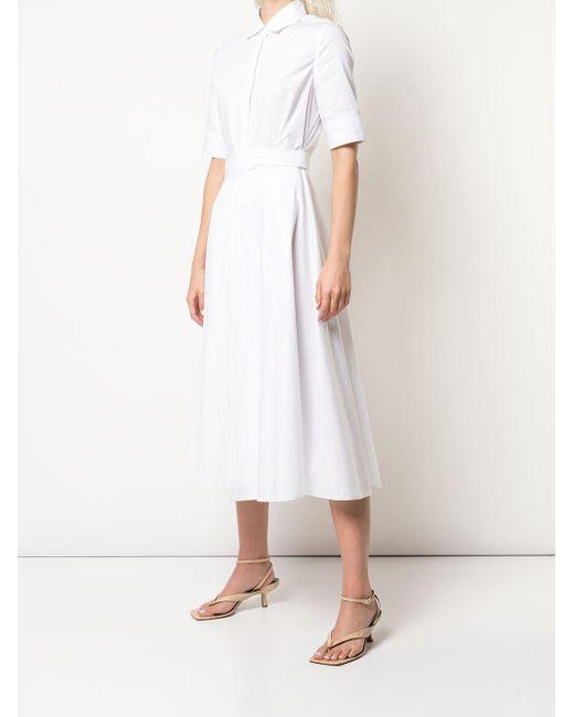 Rosetta Getty フレア シャツドレス White