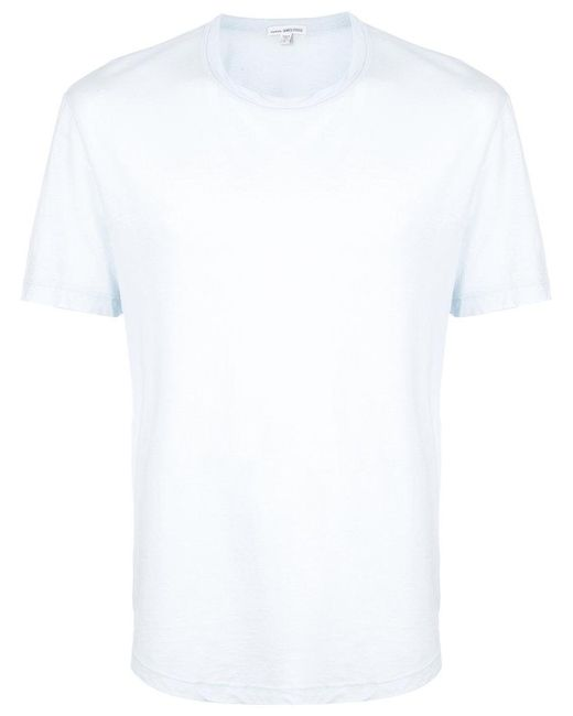 James perse plain t shirt in blue for men lyst for James perse t shirts sale