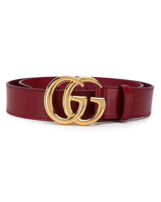 Ремень С Логотипом Double G Gucci для него, цвет: Red