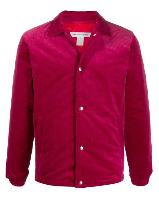 メンズ Comme des Garçons スリムフィット シャツジャケット Pink