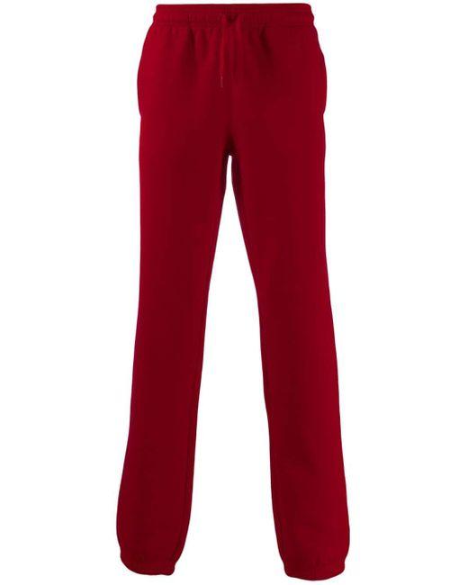 メンズ Lacoste ロゴ トラックパンツ Red