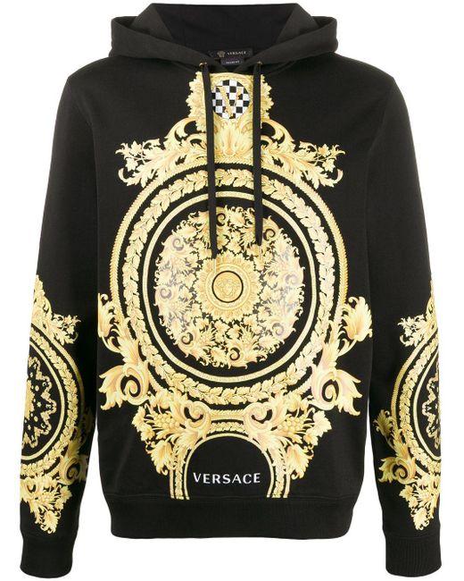Худи Le Pop Classique С Принтом Baroque Versace для него, цвет: Black
