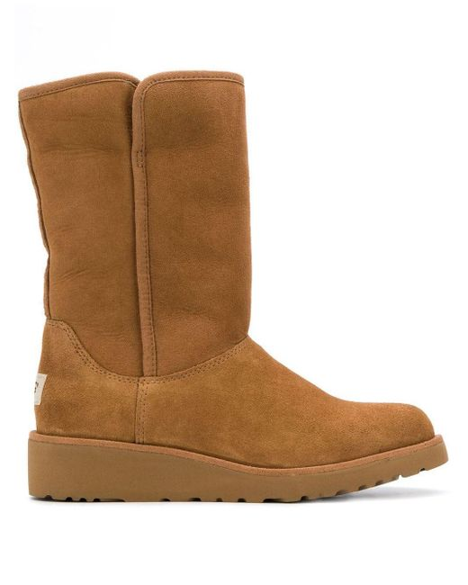 Ugg Low Heel Shearling Boots Brown