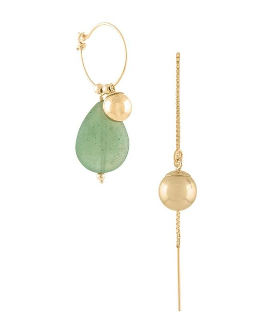 Petite Grand Jade ドロップピアス Multicolor