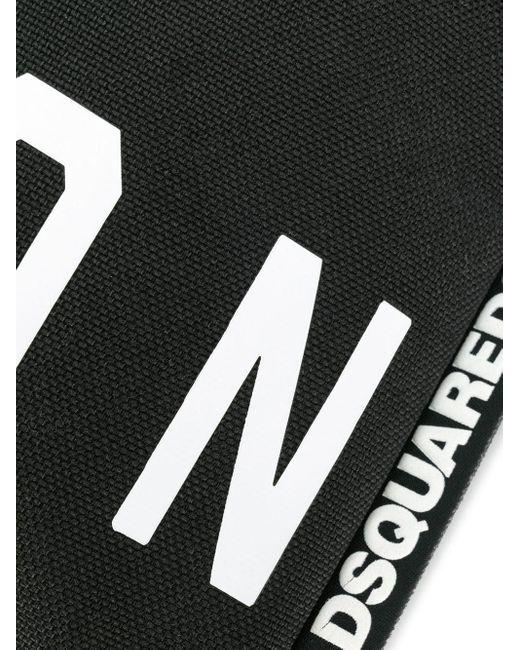 Сумка-мессенджер С Принтом DSquared² для него, цвет: Black