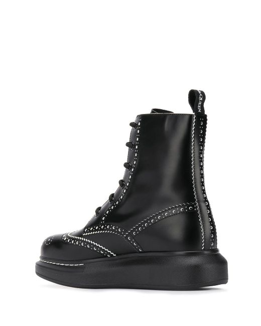 Punch Hole 40mm Ankle Boots Alexander McQueen, цвет: Black