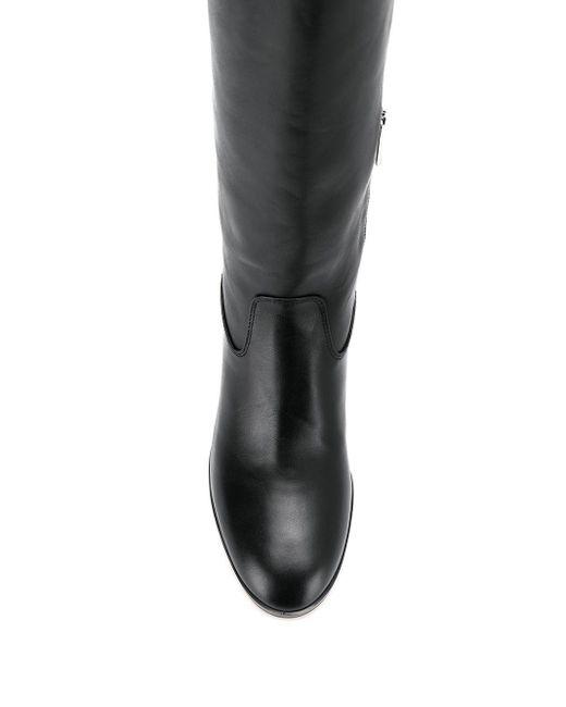 MICHAEL Michael Kors ロゴ ロングブーツ Black