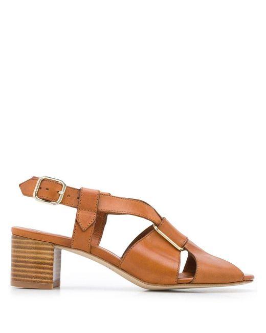A.P.C. Sandalias de tiras cruzadas de mujer de color marrón