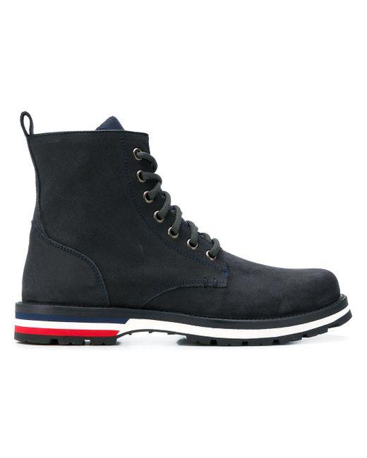Moncler Gray Cargo Boots for men