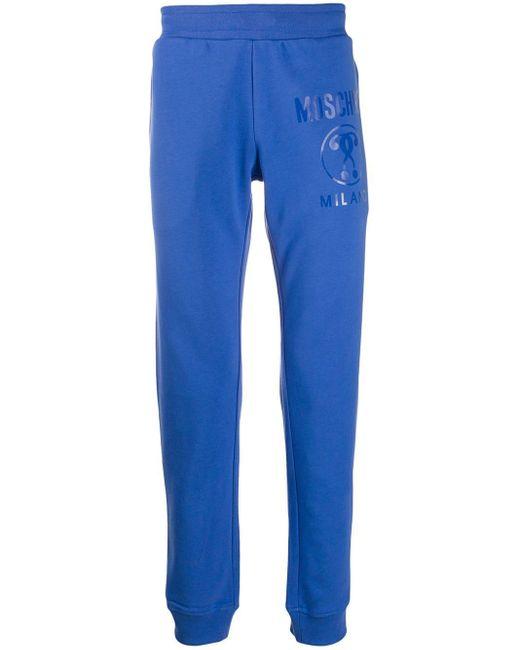 メンズ Moschino ロゴ トラックパンツ Blue