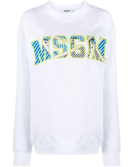 MSGM ロゴ スウェットシャツ White