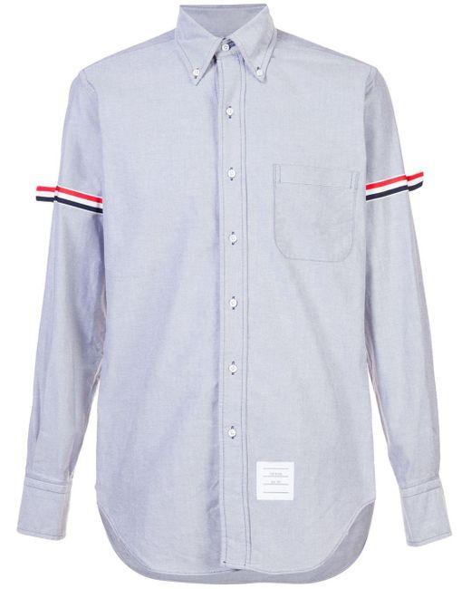 メンズ Thom Browne グログラン アームバンド オックスフォードシャツ Multicolor
