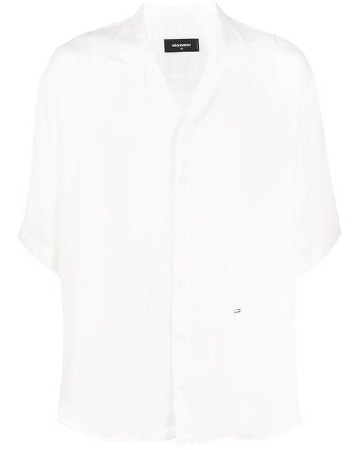 メンズ DSquared² ショートスリーブ シャツ White