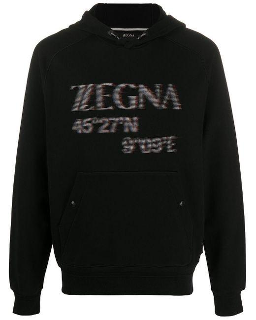 メンズ Z Zegna ロゴ パーカー Black