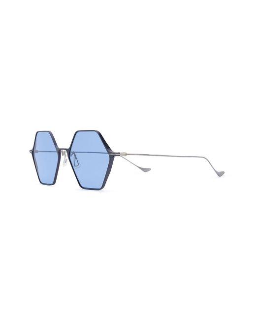 Yohji Yamamoto ジオメトリック サングラス Blue