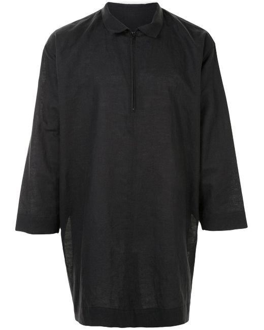 メンズ Homme Plissé Issey Miyake オーバーサイズ シャツ Gray