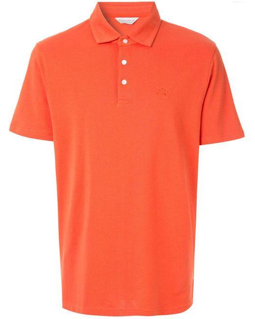 メンズ Gieves & Hawkes ロゴ ポロトップ Orange