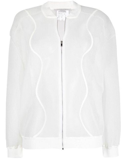 Veste à fermeture zippée Stella McCartney en coloris White