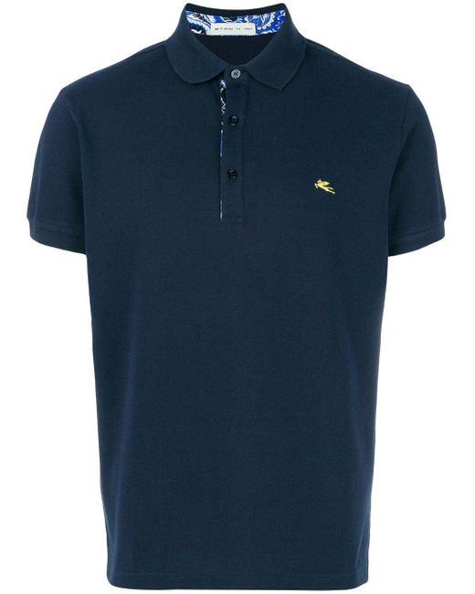 メンズ Etro クラシックポロシャツ Blue