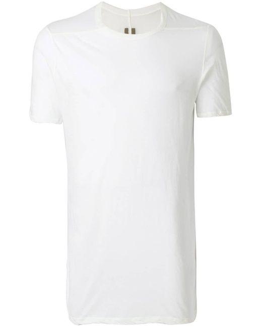 メンズ Rick Owens ロングレングス Tシャツ White