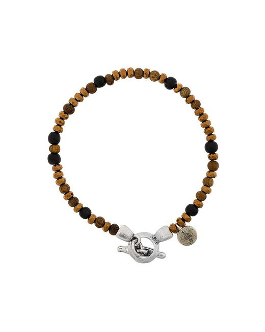 Eleventy - Brown Beads Charm Bracelet for Men - Lyst