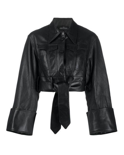 ROKH クロップド シャツジャケット Black