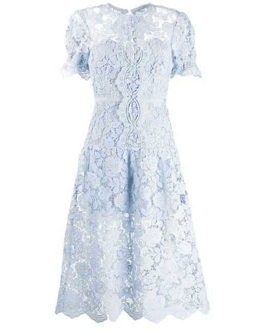 Self-Portrait Dress Blue