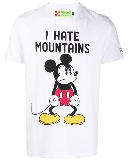 メンズ Mc2 Saint Barth I Hate Mountains Tシャツ White