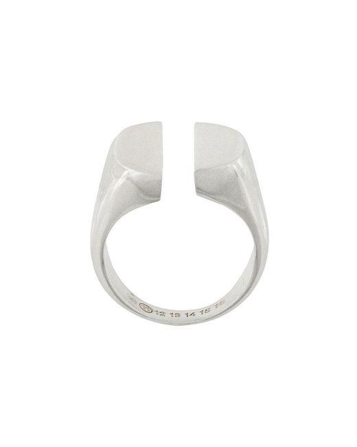 Maison Margiela - Metallic Signet Split Ring for Men - Lyst
