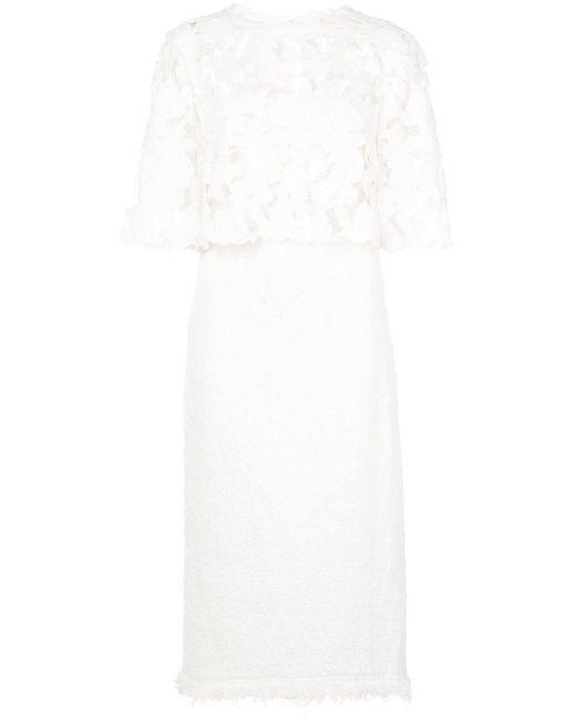 Oscar de la Renta レースディテール ドレス White