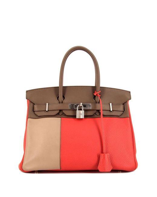 Сумка-тоут Birkin 30 Pre-owned Hermès, цвет: Pink