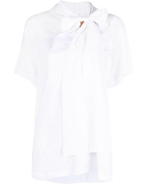 Top con fiocco di N°21 in White