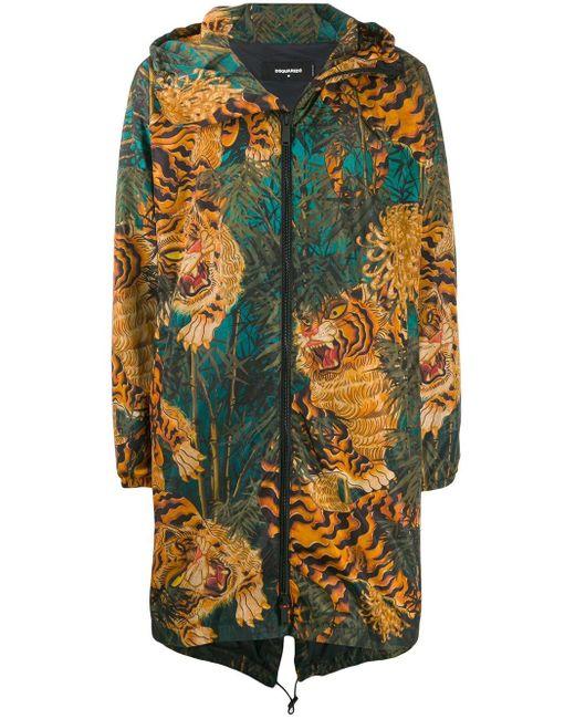 メンズ DSquared² Tiger グラフィックコート Multicolor