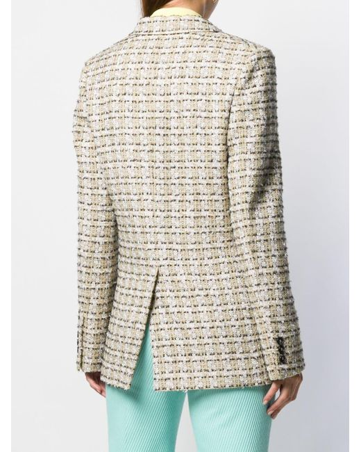 Victoria Beckham ツイードエフェクト ジャケット Multicolor