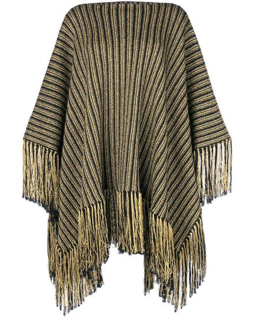 Трикотажное Платье-пончо Saint Laurent, цвет: Multicolor
