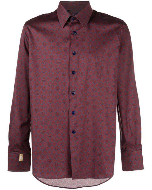 Camisa Flavio Billionaire de hombre de color Red