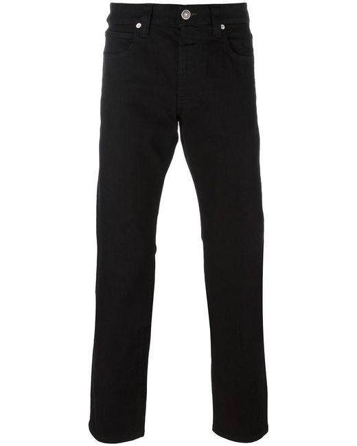Armani   Black Straight Leg Jeans for Men   Lyst