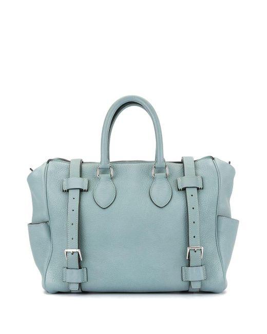 Сумка-тоут Pure Sangle 31 Pre-owned Hermès, цвет: Blue