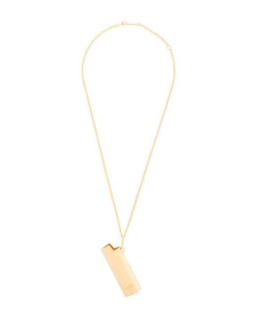 Ambush Metallic Lighter Pendant Necklace