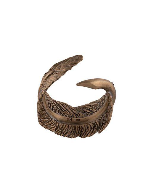Кольцо В Форме Пера M. Cohen для него, цвет: Metallic
