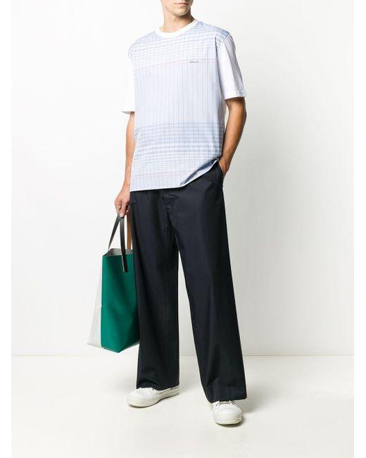 メンズ Lanvin チェック Tシャツ Multicolor