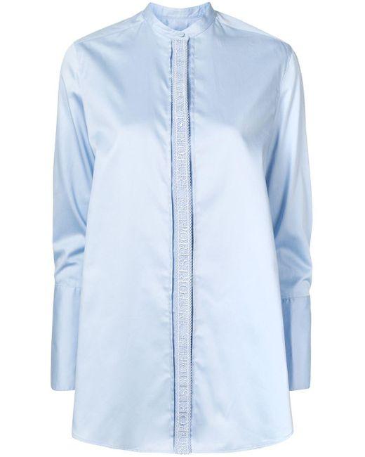 PORTSPURE マンダリンカラー シャツ Blue